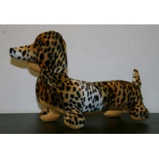 Cheetah Faux Fur Stuffed Dachshund