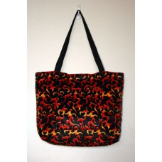 Red Dragon Flame Tote Bag