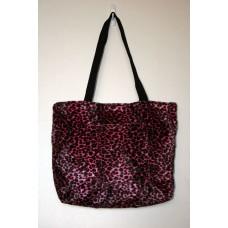 Pink Cheetah Faux Fur Tote Bag