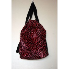 Pink Cheetah Faux Fur Backpack