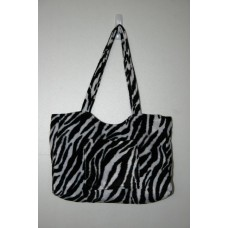 Zebra Faux Fur Medium Handbag