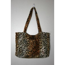 Cheetah Faux Fur Medium Handbag