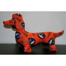 Denver Broncos Stuffed Dachshund