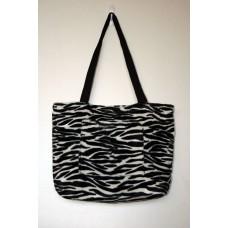 Zebra Faux Fur Tote Bag