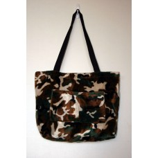 Camouflage Faux Fur Tote Bag