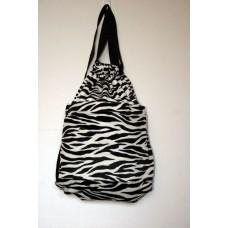 Zebra Faux Fur Backpack
