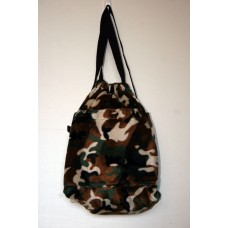 Camouflage Faux Fur Backpack