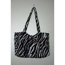 Zebra Faux Fur Medium Handbag